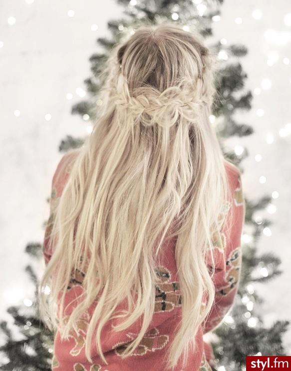 Blond Warkocze Proste Na co dzień Długie Fryzury