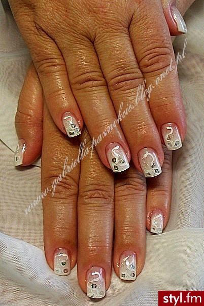 akryl na naturalnych paznokciach+ farbki akrylowe - Kwadratowe Żelami Akryl Paznokcie