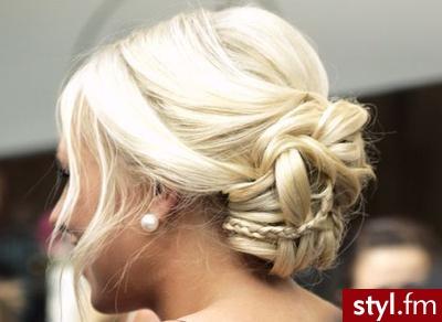 Blond Rozpuszczone Proste Wieczorowe Krótkie Fryzury