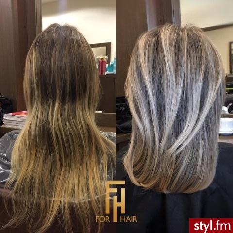 Najlepsze blondy w Warszawie salon For Hair - Blond Rozpuszczone Proste Na co dzień Średnie Fryzury