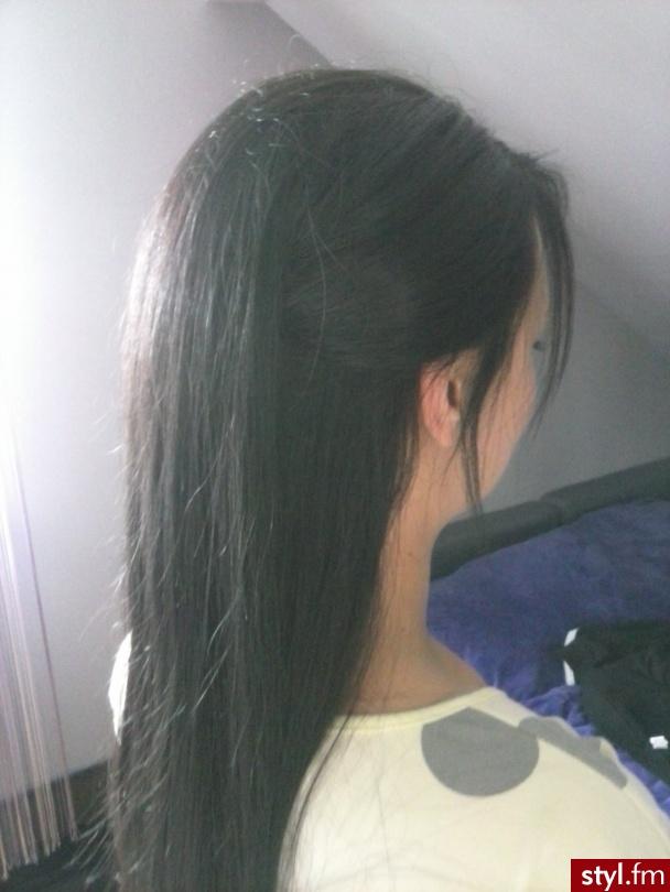 Czarne Rozpuszczone Proste Wieczorowe Długie Fryzury