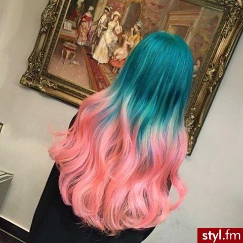 Kolorowe Rozpuszczone Kręcone Na co dzień Długie Fryzury