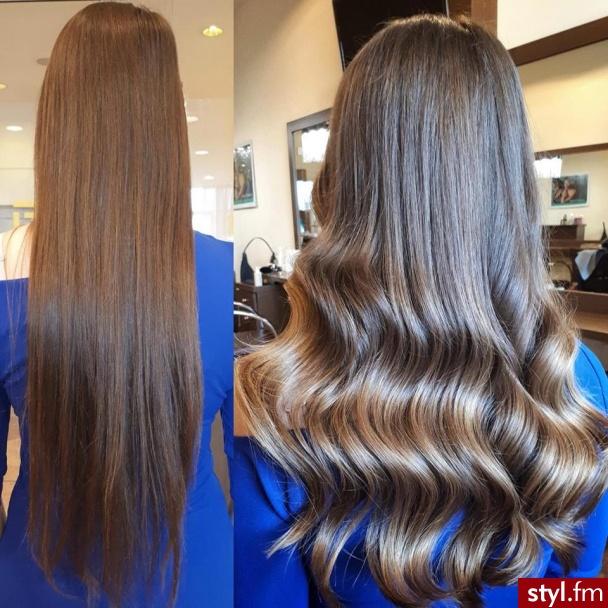 fryzjer warszawa sombre z Olaplex salon for hair - Blond Rozpuszczone Kręcone Fryzury gwiazd Długie Fryzury