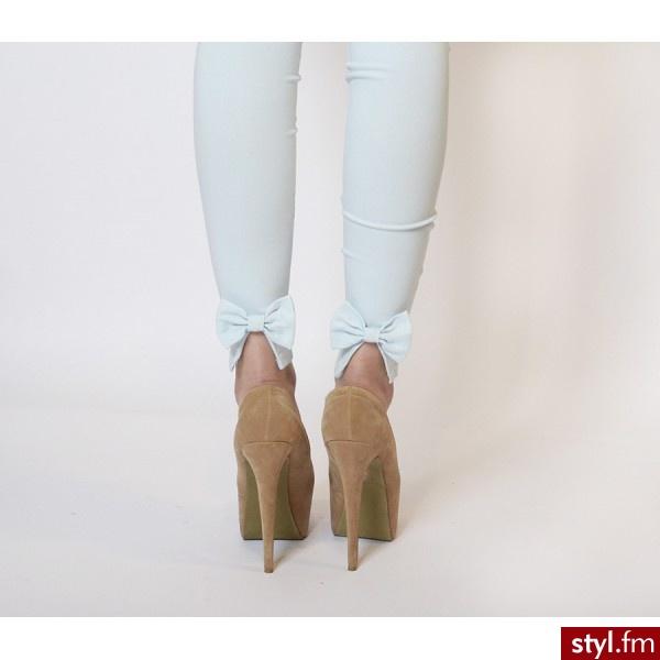 Materiałowe Spodnie Moda