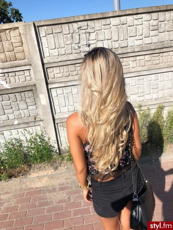 Moje  Włosy  - Blond Rozpuszczone Kręcone Na co dzień Długie Fryzury