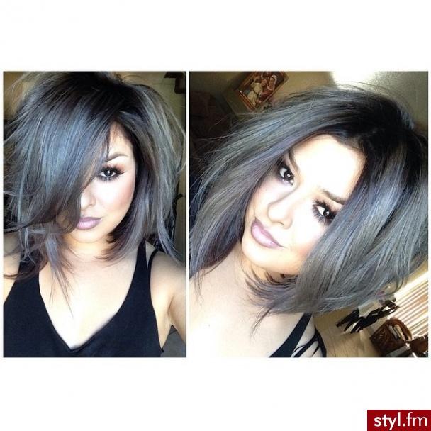 Short Hair Grey Ombre