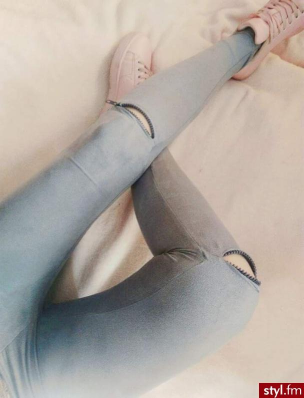h http://www.vinted.pl/damska-odziez/legginsy/17705357-legginsy-szare-spodnie-rurki-xs-s-zamki-dziury-wysoki-stan  - Leginsy Spodnie Moda