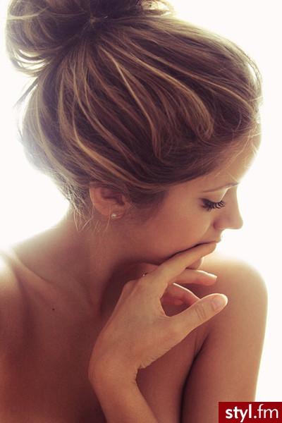 Blond Kok Proste Na co dzień Średnie Fryzury