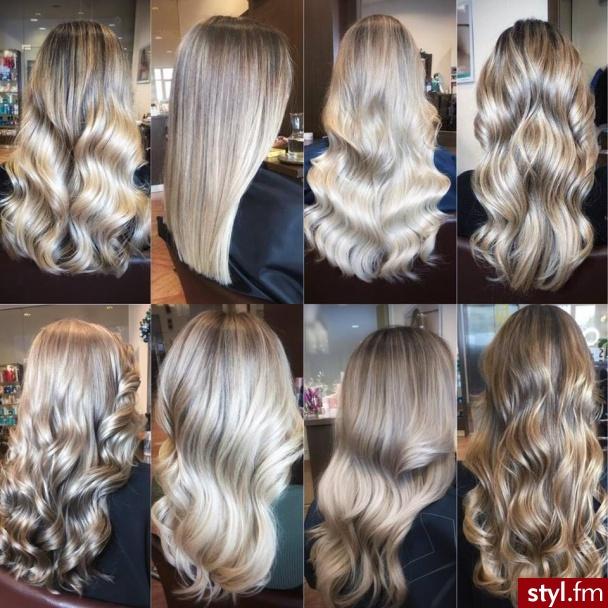 Olaplex gratis fryzjer Warszawa salon For Hair - Blond Rozpuszczone Kręcone Na co dzień Długie Fryzury
