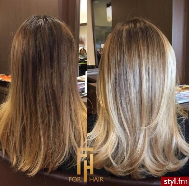 sombre salon For Hair - Blond Rozpuszczone Proste Na co dzień Długie Fryzury