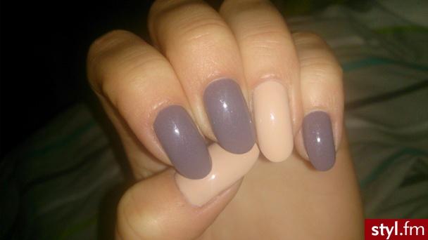 Brązowo kremowe paznokcie :) - Migdałki Naturalne Paznokcie