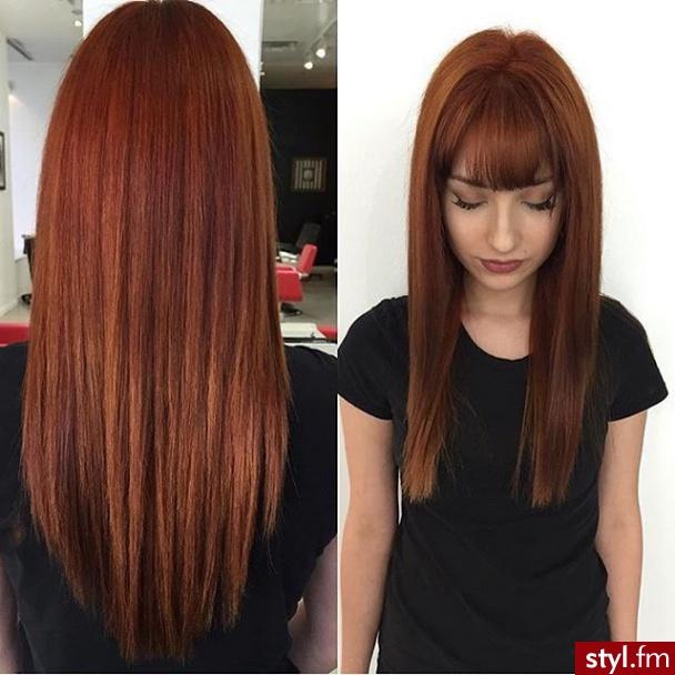 Fryzury Rude Włosy Fryzury Długie Na Co Dzień Proste Z