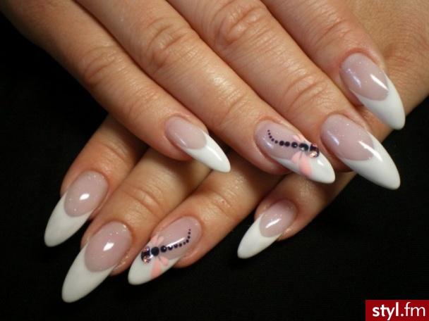 Дизайн нарощенных ногтей  2018 новинки френч 27