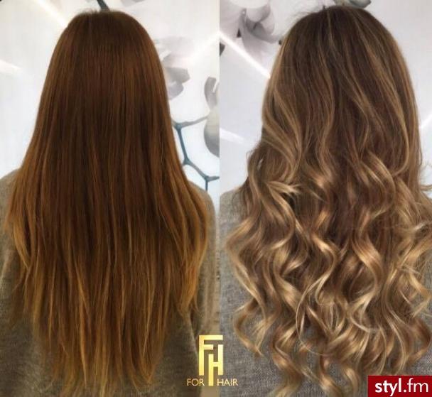 Koloryzacja z pielęgnacją alcantara, fryzurę wykonała Małgosia - Brązowe Rozpuszczone Proste Na co dzień Długie Fryzury