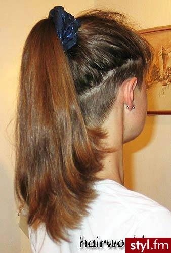 Tribale - wzory na głowie Alternatywne Długie Fryzury