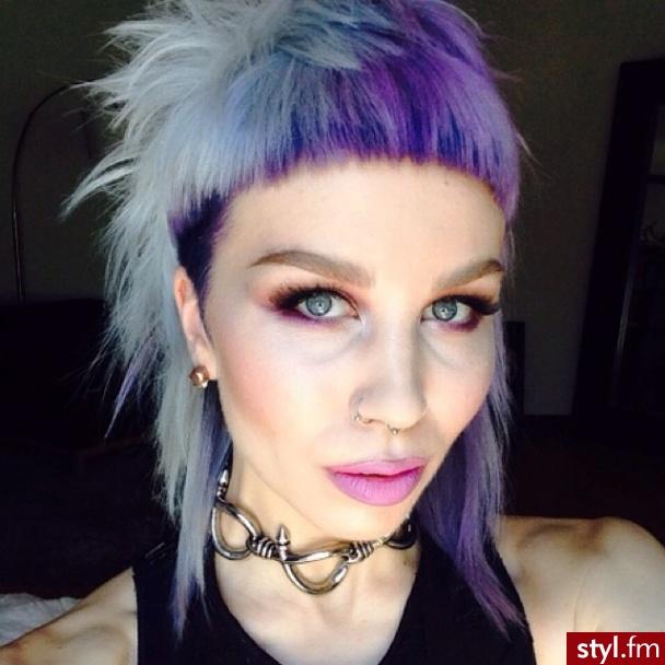 Kolorowe Punk Rock Alternatywne Średnie Fryzury