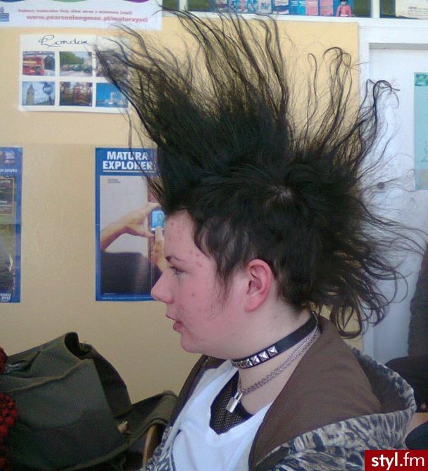 zdjęcie takie ło - Irokez damski Proste Na co dzień Średnie Fryzury
