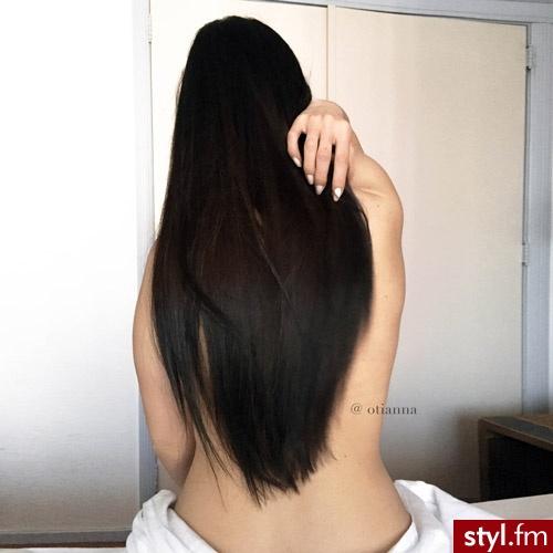 długie włosy - naturalna pielęgnacja - Brązowe Rozpuszczone Proste Wieczorowe Długie Fryzury