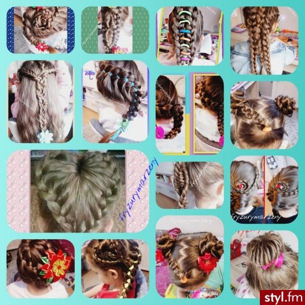 fryzury dla dziewczynek - Na co dzień Długie Fryzury