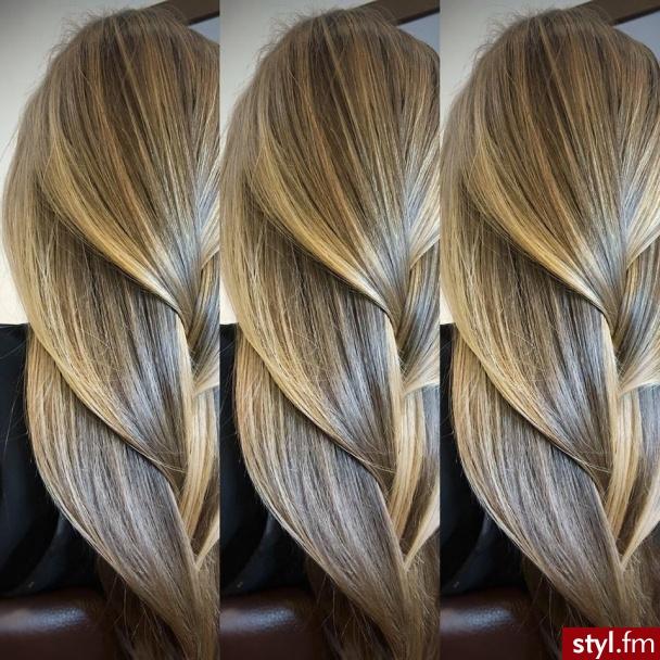 fryzjer warszawa sombre z Olaplex salon for hair - Blond Warkocze Proste Na co dzień Długie Fryzury