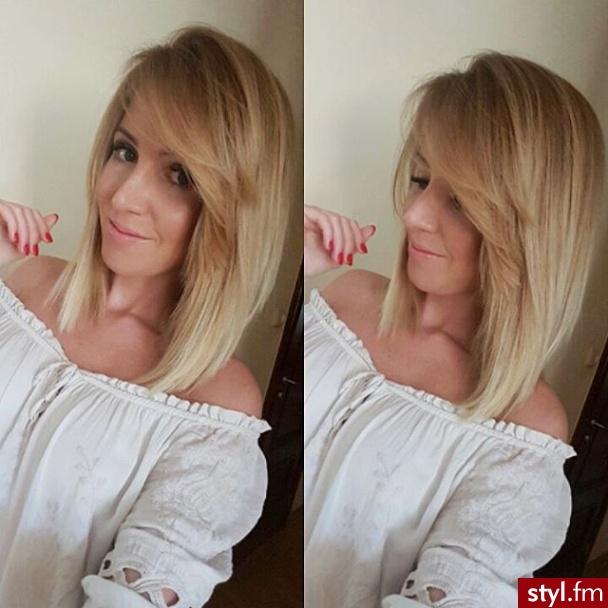 Fryzury Blond Włosy Fryzury średnie Na Co Dzień Proste Z