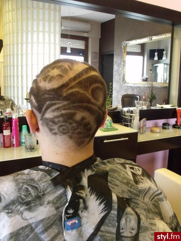Tribale - wzory na głowie Alternatywne Krótkie Fryzury
