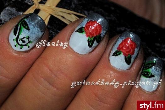 Różane paznokcie - Kwadratowe Naturalne Paznokcie