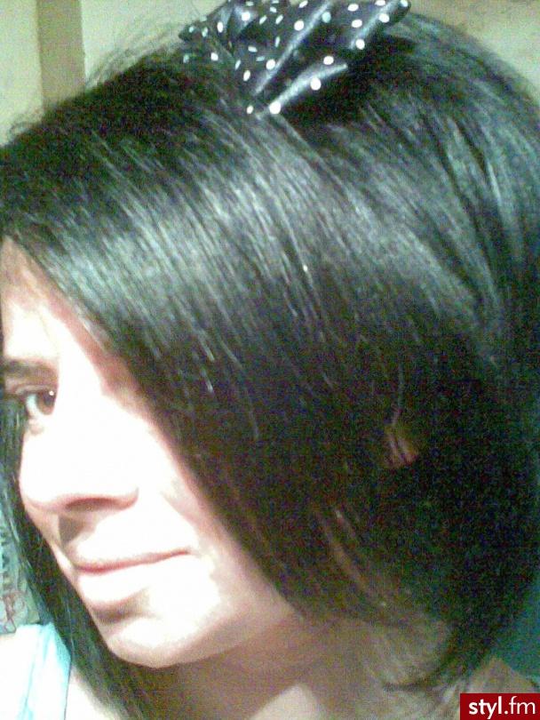 Czarne EMO Alternatywne Średnie Fryzury