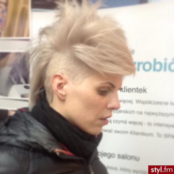 :) - Blond Irokez damski Proste Na co dzień Krótkie Fryzury