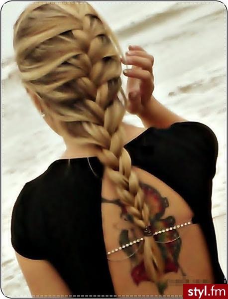 Fryzury Blond Włosy Fryzury Długie Na Co Dzień Proste Warkocze
