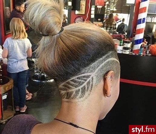 Tribale - wzory na głowie Alternatywne Średnie Fryzury