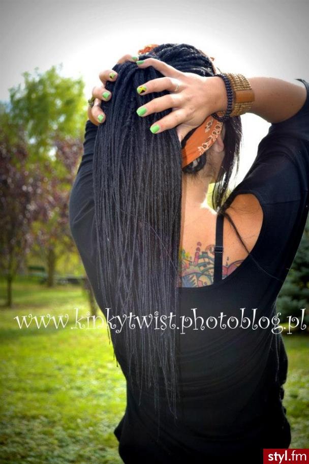 Czarne Dredy Alternatywne Długie Fryzury