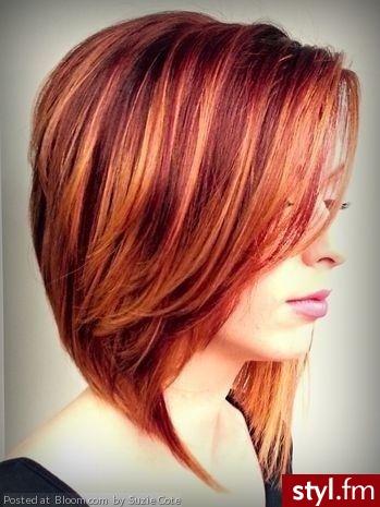 Fryzury Rude Włosy Fryzury Krótkie Na Co Dzień Proste Z