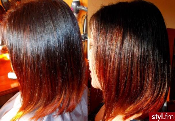 Kolorowe Rozpuszczone Proste Na co dzień Średnie Fryzury