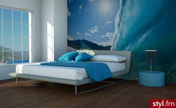 Piękna, niebieska sypialnia dla tych, którzy marzą już o wakacjach :)  - Wnętrza