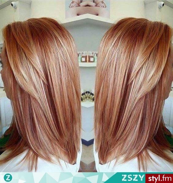 Kolorek !! <3 - Blond Rozpuszczone Proste Na co dzień Średnie Fryzury