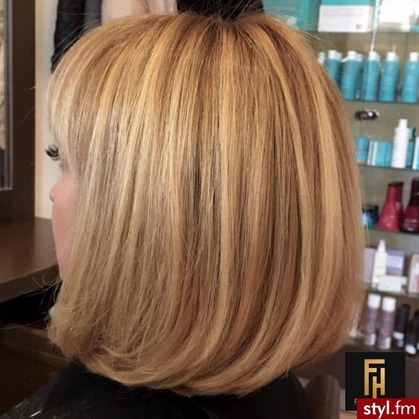 http://forhairsobieski.pl/ SOMBRE OLAPLEX LOB WARSZAWA DOBRY FRYZJER - Blond Rozpuszczone Proste Na co dzień Średnie Fryzury