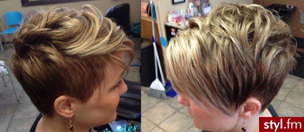 Blond Rozpuszczone Kręcone Wieczorowe Krótkie Fryzury