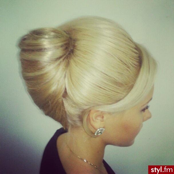Blond Kok Proste Wieczorowe Długie Fryzury
