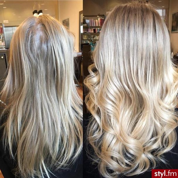 fryzjer warszawa sombre z Olaplex salon for hair - Blond Rozpuszczone Proste Na co dzień Długie Fryzury