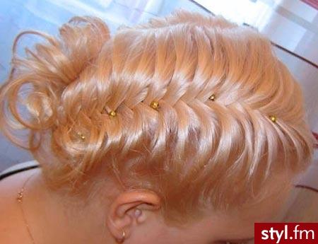 Blond Warkocze Kręcone Wieczorowe Długie Fryzury