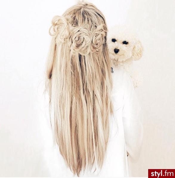 Blond Upięcie Proste Na co dzień Długie Fryzury