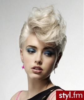 - Blond Irokez damski Proste z grzywką Wieczorowe Krótkie Fryzury