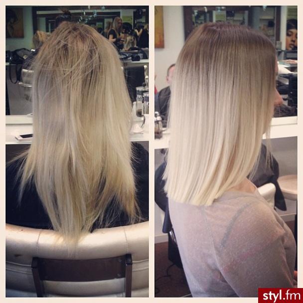 Fryzury Blond Włosy Fryzury średnie Na Co Dzień Proste Rozpuszczone