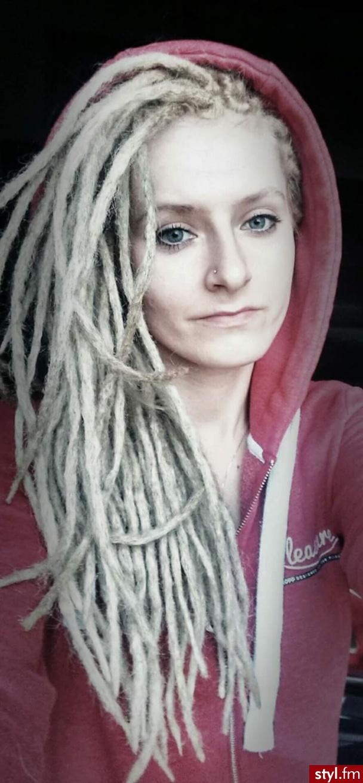 Blond Dredy Alternatywne Długie Fryzury