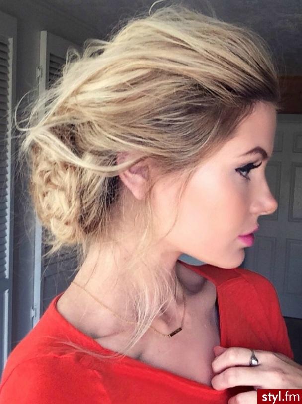 Blond Upięcie Kręcone Na co dzień Średnie Fryzury