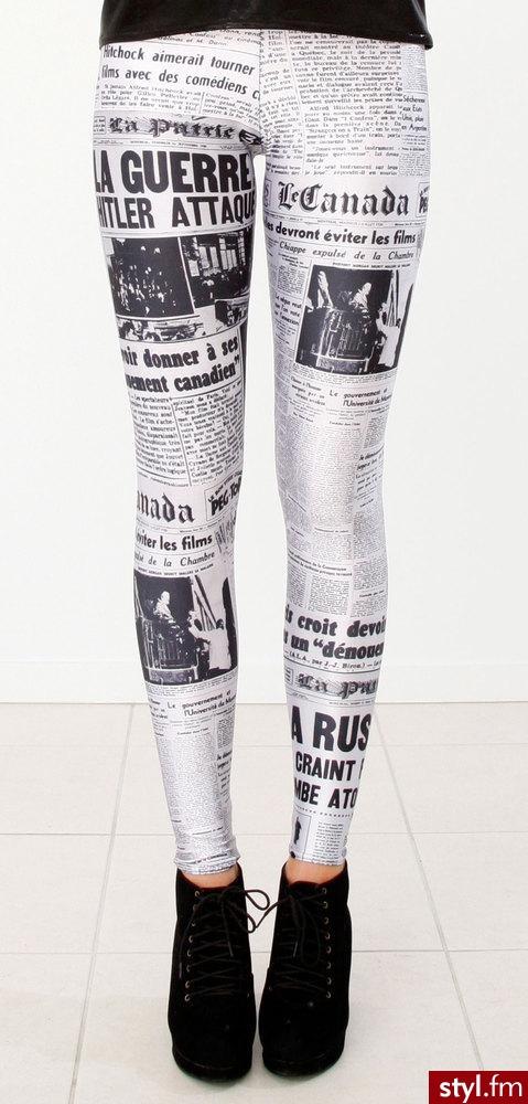 Legginsy australijskiego projektanta Jamesa Lillis'a. Hand made. - Pozostałe Ciuchy Moda