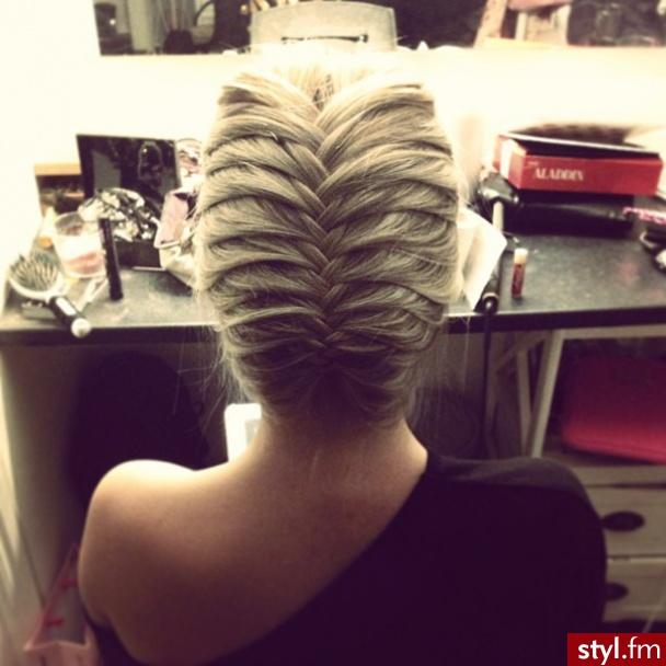 Blond Warkocze Proste Na co dzień Średnie Fryzury