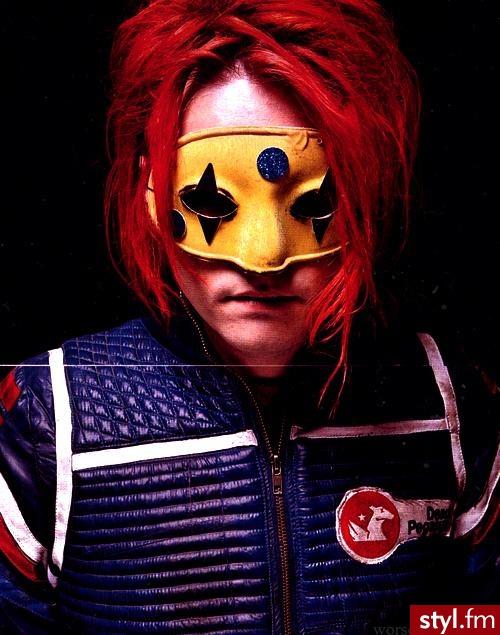 Gerard Way - Kolorowe Punk Rock Alternatywne Krótkie Męskie Fryzury