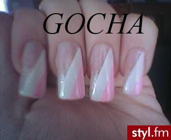 bialo-rozowy french - Paznokcie